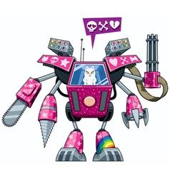Robo-pussycat vector image vector image