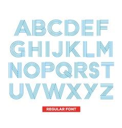 Type font stripes retro vintage vector