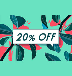 20 off in design banner template for web vector