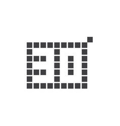 30 year anniversary pixel number template design vector