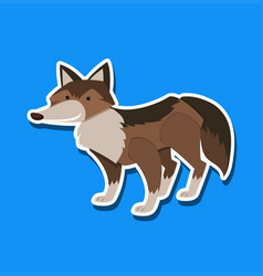 a wolf sticker character vector image