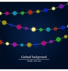 Abstract bright lights background Christmas vector