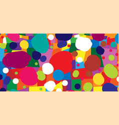 Abstract colored background from blots and vector