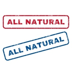 All Natural Rubber Stamps vector