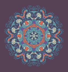 ancient geometric mandala vector image