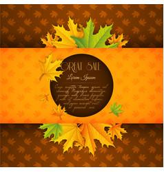 autumn floral sale template vector image