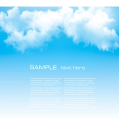Background with a cloudy blue sky vector image