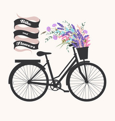 Bicycle with flowers vector