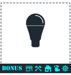 Bulb icon flat vector image