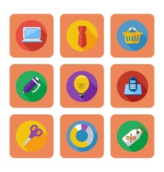 Business shopping and marketing items icons vector