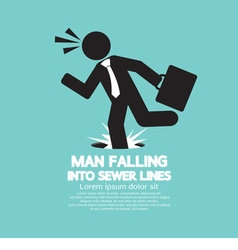 Businessman Falling Into Sewer Lines vector