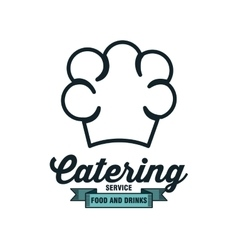 catering delicious food icon vector image