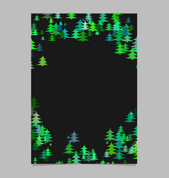 Christmas design pine tree pattern page border vector