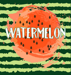 circle of juicy watermelon vector image