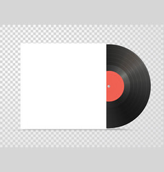 classic design template with vinyl and cover vector image