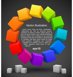 Colored cubes 3D vector