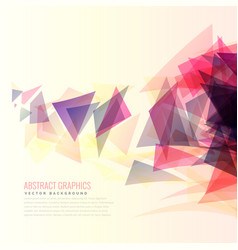 Colorful abstract triangle shapes background vector