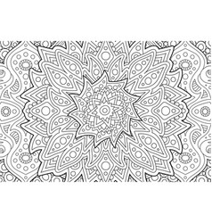 coloring book page with decorative linear pattern vector image