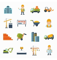 Construction Icons Flat vector
