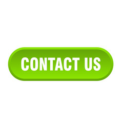 Contact us button contact us rounded green sign vector