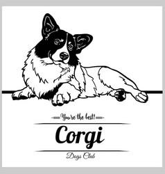 Corgi dog - for t-shirt logo vector