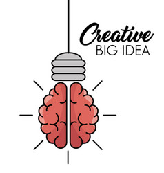 Creative big idea icons vector