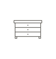 cupboard icon simple element from map and vector image