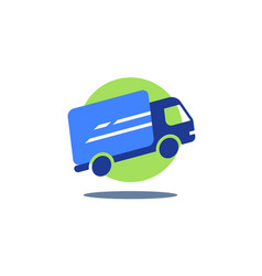 Delivery truck fast courier services vector