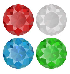 Diamond sapphire ruby emera vector