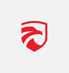 eagle shield icon vector image