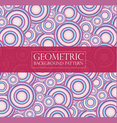 Editable abstract geometric pattern - round vector