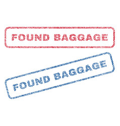 Found baggage textile stamps vector