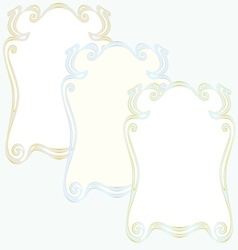 frame set old-fashion retro style vector image