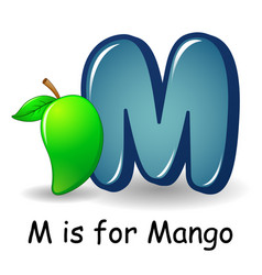 Fruit alphabet m is for mango vector