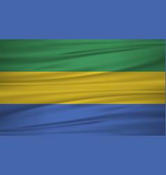 gabon flag flag of gabon blowig in the wind eps vector image