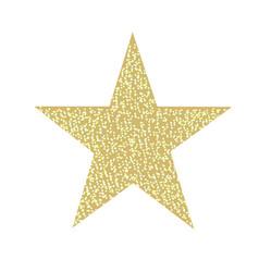 glitter golden star isolated vector image