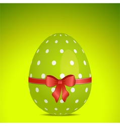 green polka dot easter egg vector image