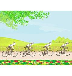 Group riders racing vector