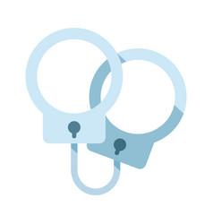 Handcuffs flat vector