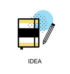 Idea book graphic icon vector