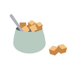 Jar of sugar flat simple vector