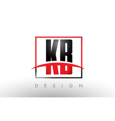 Kb k b logo letters with red and black colors and vector