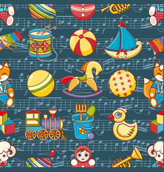 Kid toy seamless pattern design elemen vector