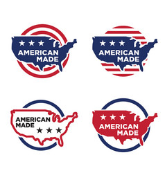 Made in america label set 03 vector