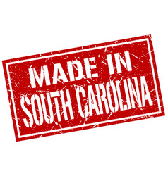 made in south carolina stamp vector image