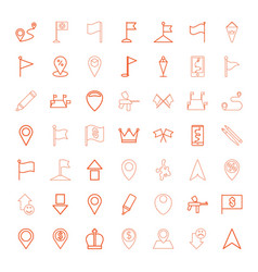 marker icons vector image