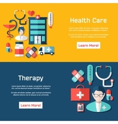 Medical brochure template for web or print vector