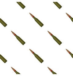Military rifle bullet icon in cartoon style vector