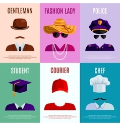 Mini Posters With Hats Caps vector
