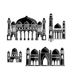 mosque icon design template set vector image